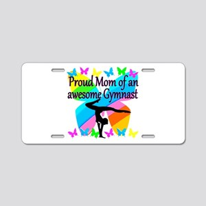 GYMNAST MOM Aluminum License Plate