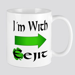 I'm With Eejit Mugs