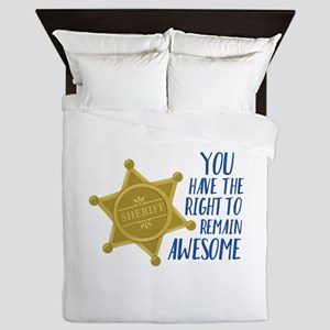 Remain Awesome Queen Duvet