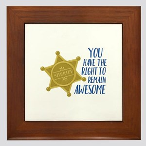 Remain Awesome Framed Tile
