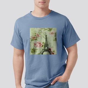 floral vintage paris eiffel tower T-Shirt