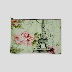 floral vintage paris eiffel tower Makeup Bag
