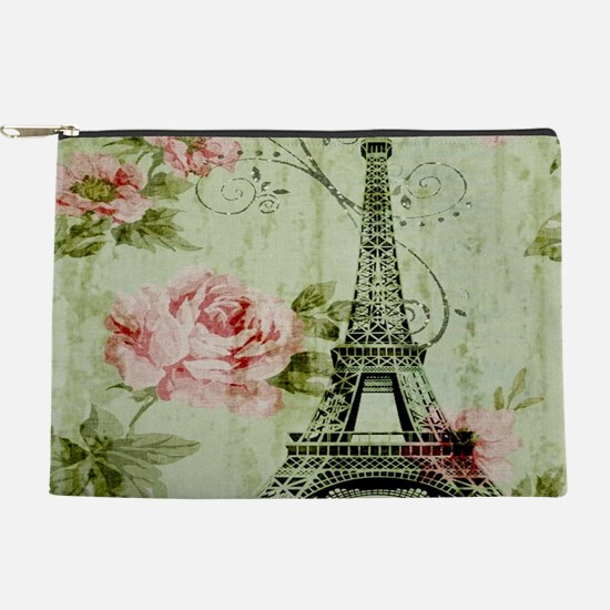 floral vintage paris eiffel tower Makeup Bag