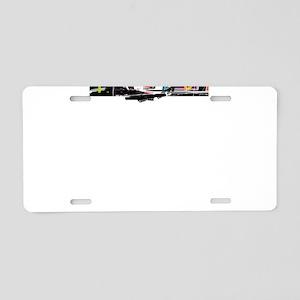 Picasso Cubist Clown Aluminum License Plate