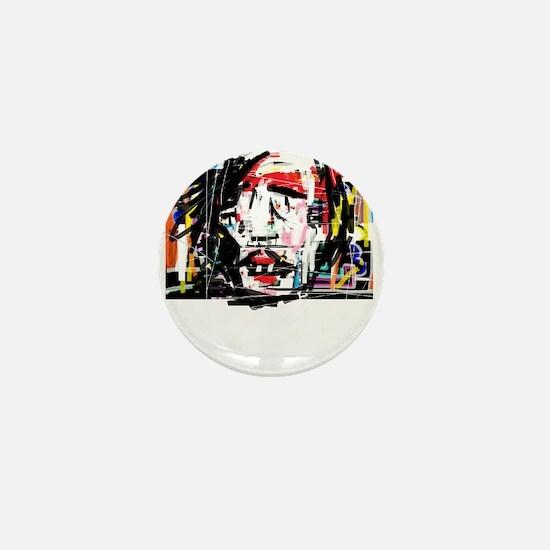 Picasso Cubist Clown Mini Button