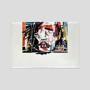 Picasso Cubist Clown Rectangle Magnet