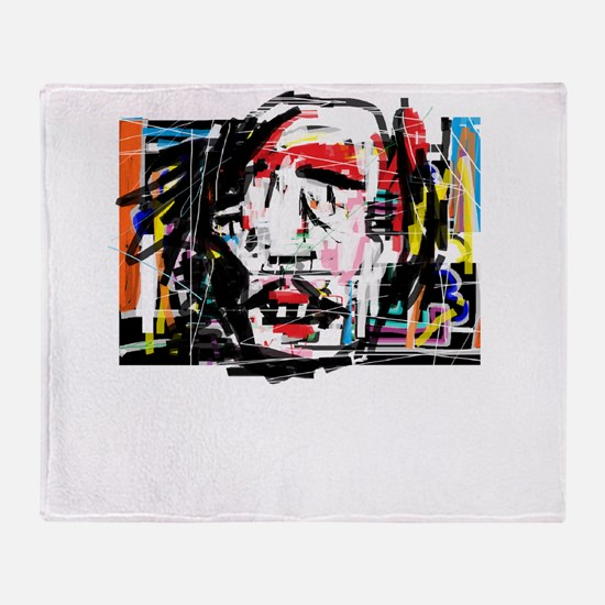 Picasso Cubist Clown Throw Blanket