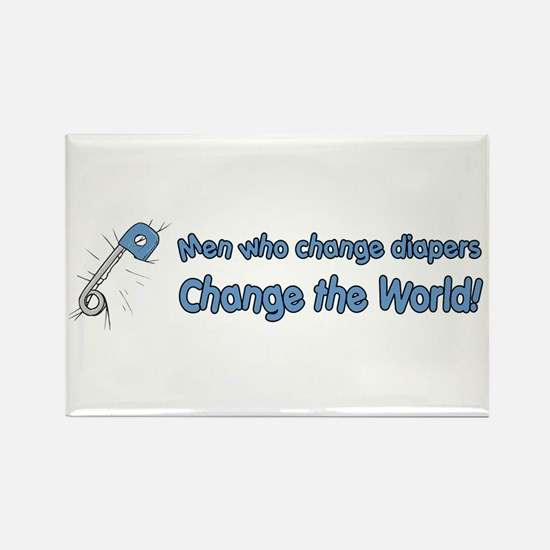 Change Diapers, Change The World Rectangle Magnet