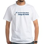 Change Diapers, Change The World White T-Shirt