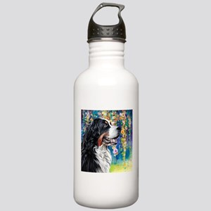 Bernese Mountain Dog Painting Water Bottle