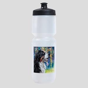 Bernese Mountain Dog Painting Sports Bottle
