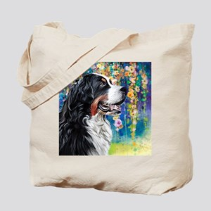 Bernese Mountain Dog Painting Tote Bag