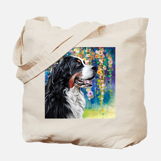 Bernese Mountain Dog Painting Tote Bag