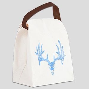 Deer skull blue Canvas Lunch Bag