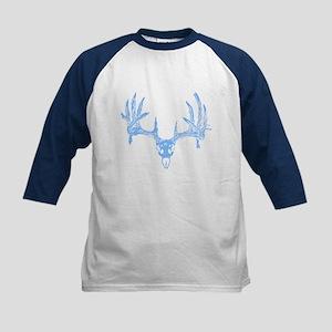Deer skull blue Kids Baseball Jersey