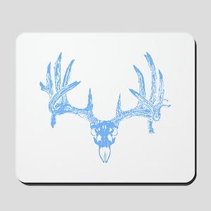 Deer skull blue Mousepad