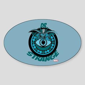Doctor Strange Blue Sticker (Oval)