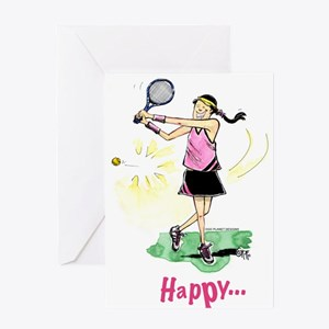 Tennis # 1125 Greeting Cards