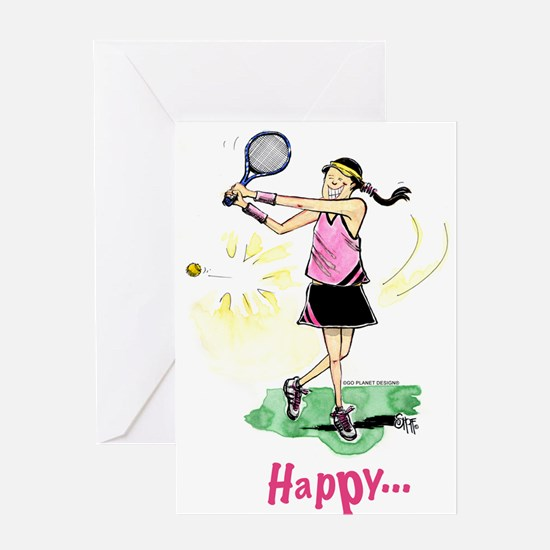 Tennis # 1125 Greeting Cards
