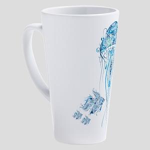 Jellyfish and Betta Fish 17 oz Latte Mug