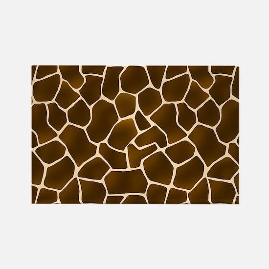 Giraffe Spots Faux Fur Pattern Magnets