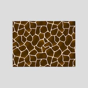 Giraffe Spots Faux Fur Pattern 5'x7'Area Rug