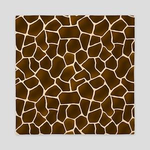Giraffe Spots Faux Fur Pattern Queen Duvet