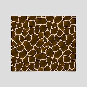 Giraffe Spots Faux Fur Pattern Throw Blanket