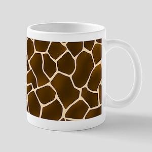 Giraffe Spots Faux Fur Pattern Mugs
