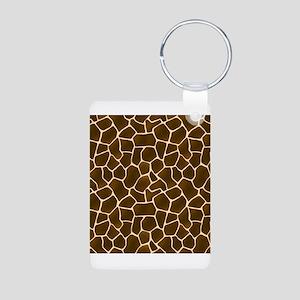 Giraffe Spots Faux Fur Pattern Keychains