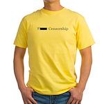 F*** Censorship Yellow T-Shirt