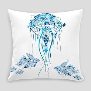 Jellyfish and Betta Fish Everyday Pillow