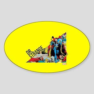 Doctor Strange Triangle Sticker (Oval)