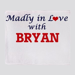 Madly in love with Bryan Throw Blanket
