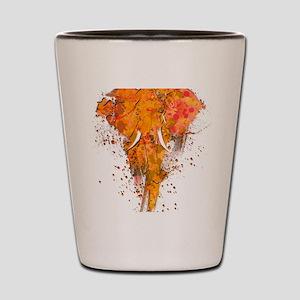 Artistic Elephant Art Shot Glass