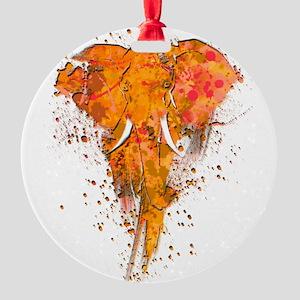 Artistic Elephant Art Round Ornament