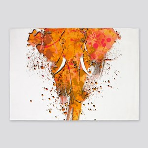 Artistic Elephant Art 5'x7'Area Rug