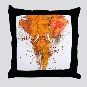 Artistic Elephant Art Throw Pillow