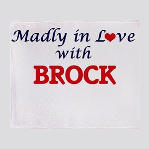 Madly in love with Brock Throw Blanket