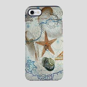 nautical beach sea shells iPhone 8/7 Tough Case