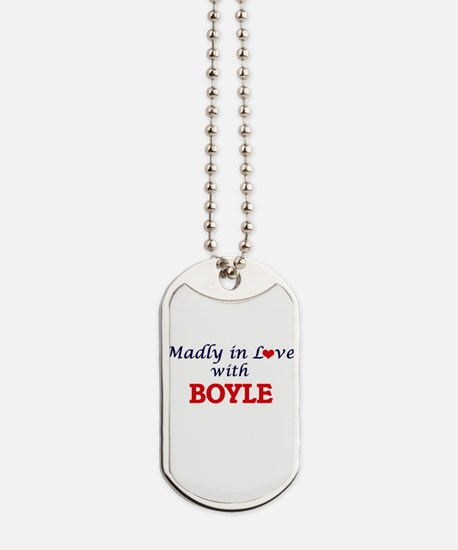 Madly in love with Boyle Dog Tags