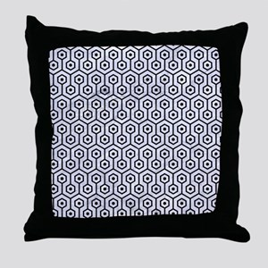 HXG1 BK-WH MARBLE (R) Throw Pillow