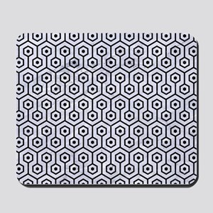 HXG1 BK-WH MARBLE (R) Mousepad