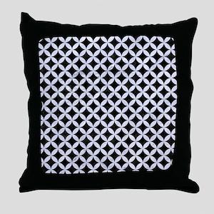 CIR3 BK-WH MARBLE Throw Pillow