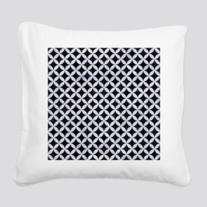 CIR3 BK-WH MARBLE Square Canvas Pillow