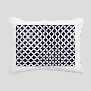 CIR3 BK-WH MARBLE Rectangular Canvas Pillow