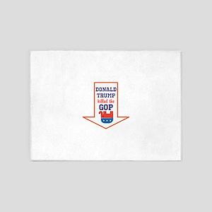 Donald Trump killed the GOP 5'x7'Area Rug