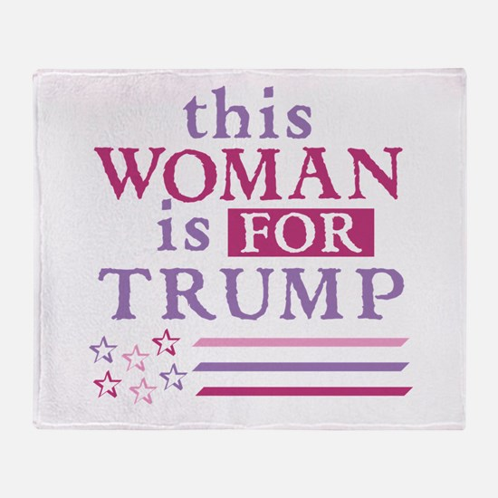 FOR Trump Throw Blanket