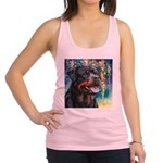 Rottweiler Painting Racerback Tank Top