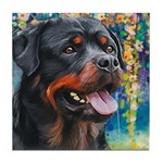 Rottweiler Painting Tile Coaster